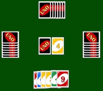 Virtual UNO Playing Cards screenshot
